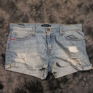 Levi's 513 Distressed Boyfriend Jean Shorts